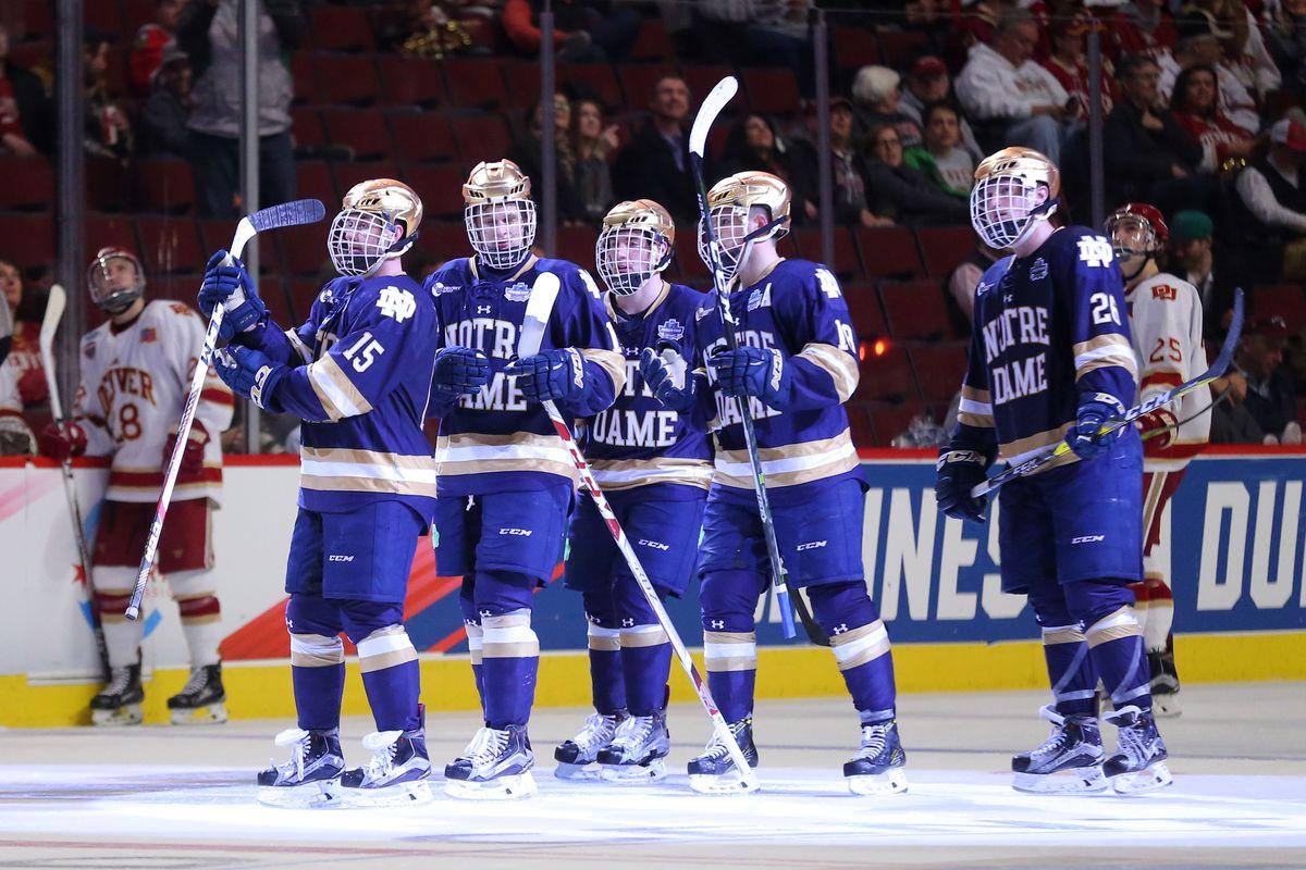 NCAA Hockey: Frozen Four-Denver vs Notre Dame