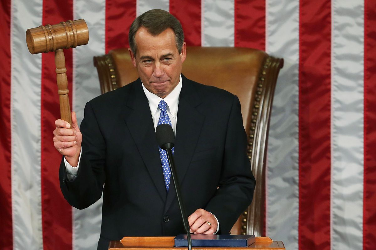 John Boehner during the opening session of the House of Representatives in 2013.