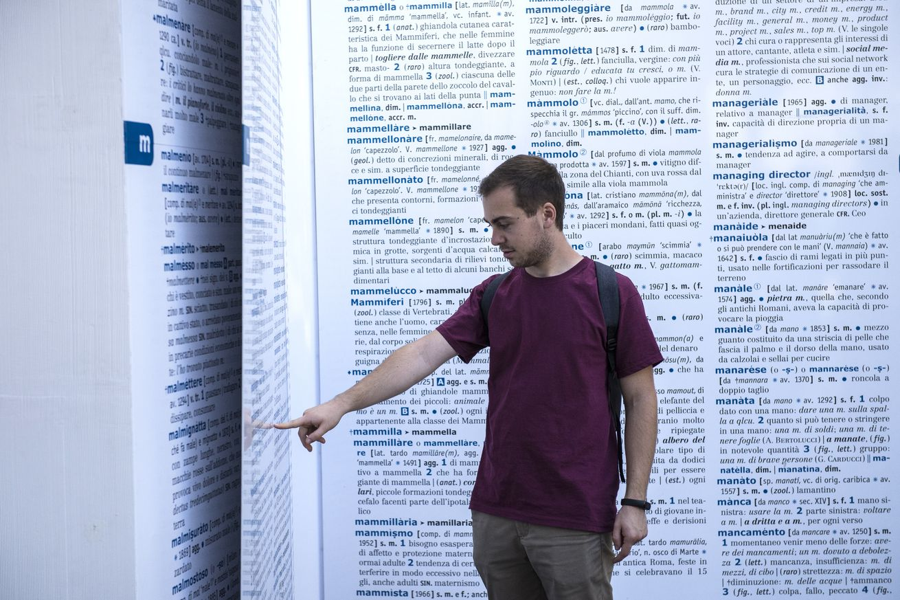 "Giant Dictionary On The Street To ""Save The Words"""