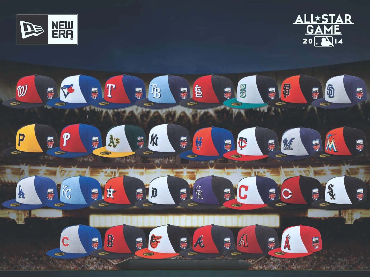 0f419921a06 A closer look at the 2014 MLB All-Star Game caps - Land-Grant Holy Land