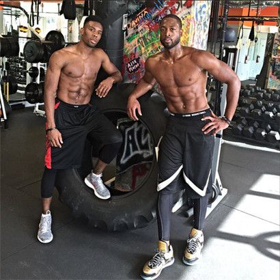 Dwyane Wade posts Happy Birthday photo of workout partner