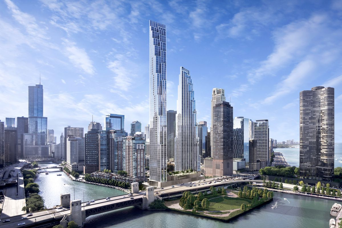 Chicago homes neighborhoods architecture and real estate curbed spire site from failed skyscraper to som designed towers fandeluxe Gallery