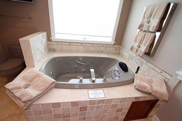 A jetted tub