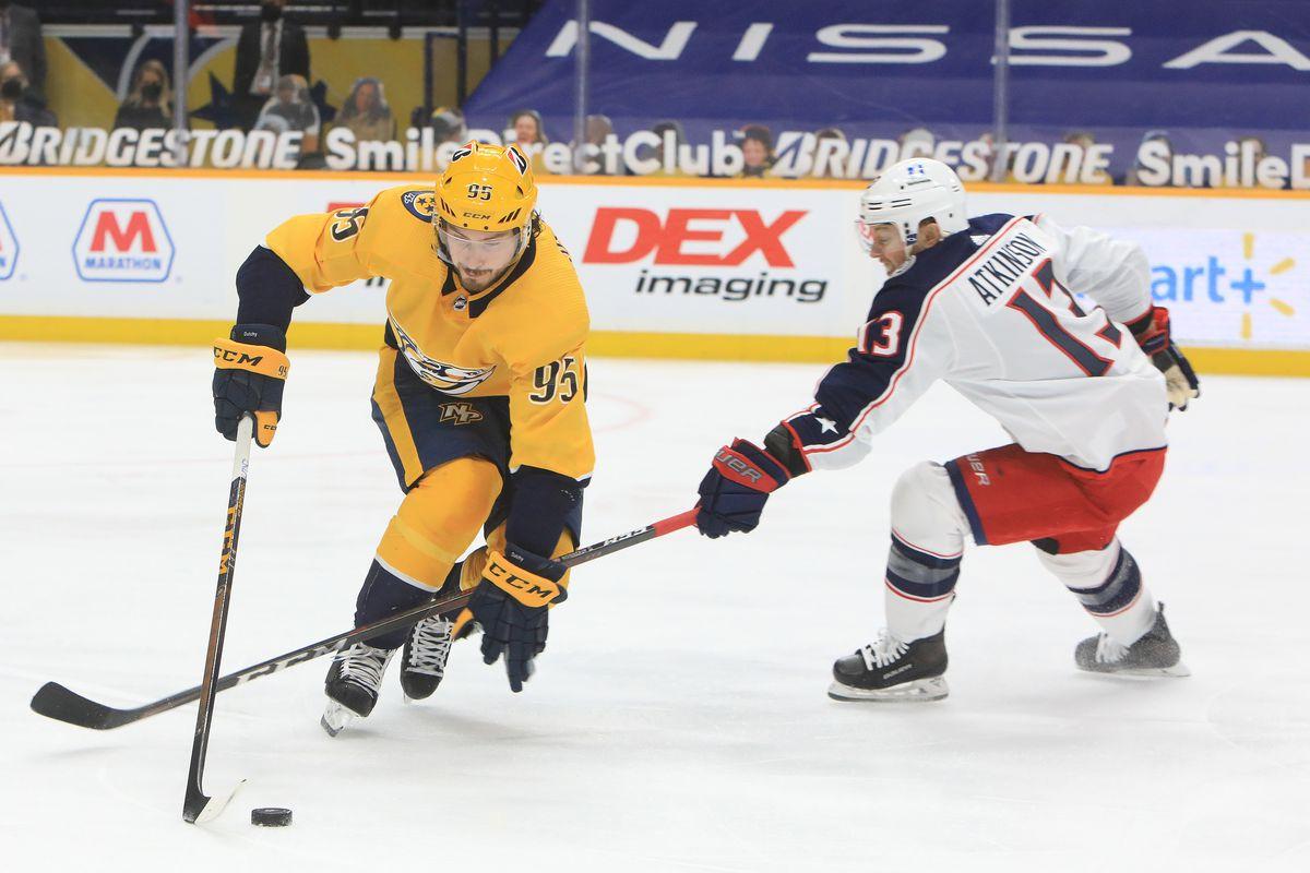NHL: FEB 27 Blue Jackets at Predators