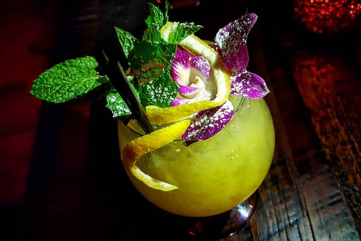 The Saturn cocktail at Tiki Rock