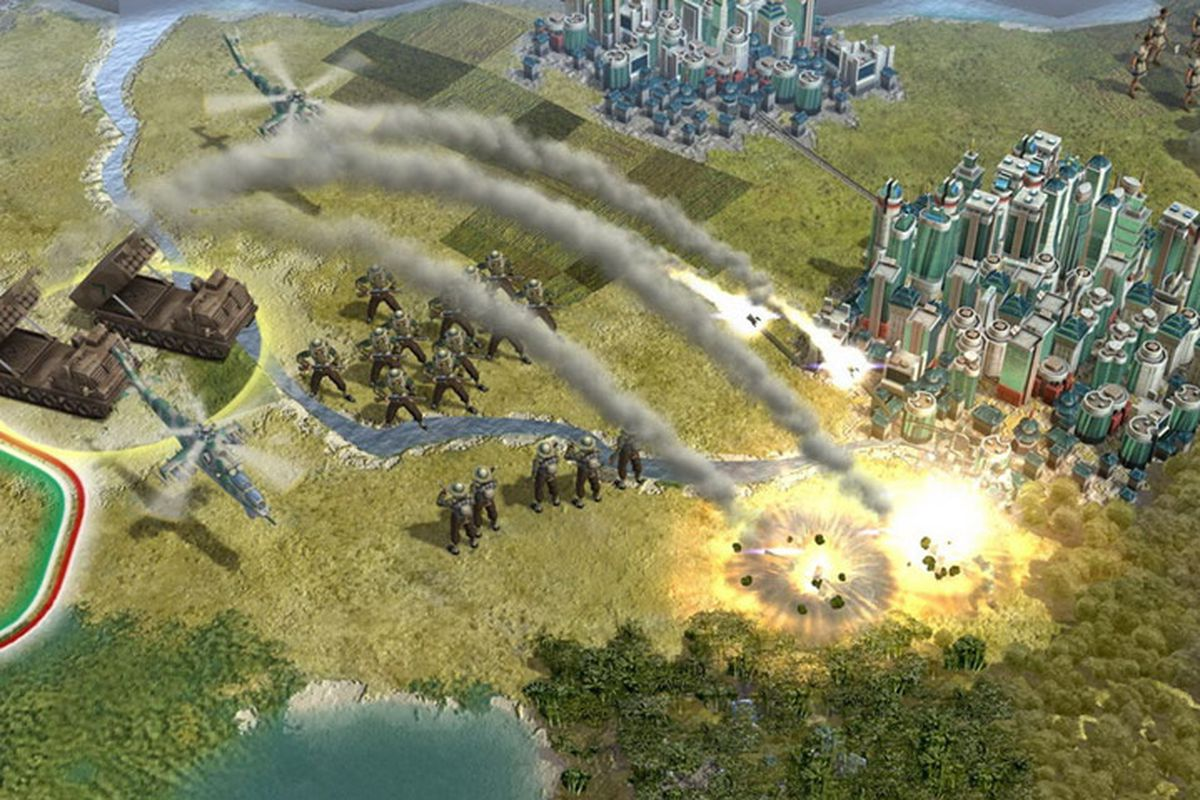A screenshot from Civilization 5, the latest entry in the series