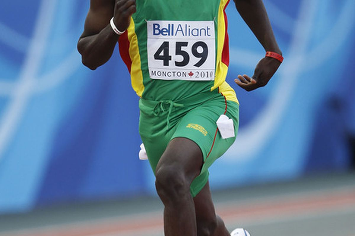 Kirani James (Grenada) secured Alabama's first medal with a gold in the men's 400m.