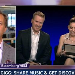 Scott Warner, CEO of Gigg, appeared on a segment of Bloomberg TV with musician Skylar Grey in 2013.