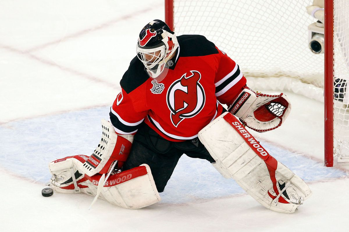 Martin Brodeur: The only starting goaltender from the 2011-12 season who is currently an impending unrestricted free agent this summer.   Yes, the <em>only</em> one. (Photo by Paul Bereswill/Getty Images)