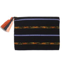 """<b>Proud Mary</b> clutch, <a href=""""http://www.accompanyus.com/collections/h-g-100/products/black-metal-clutch"""">$38</a>"""