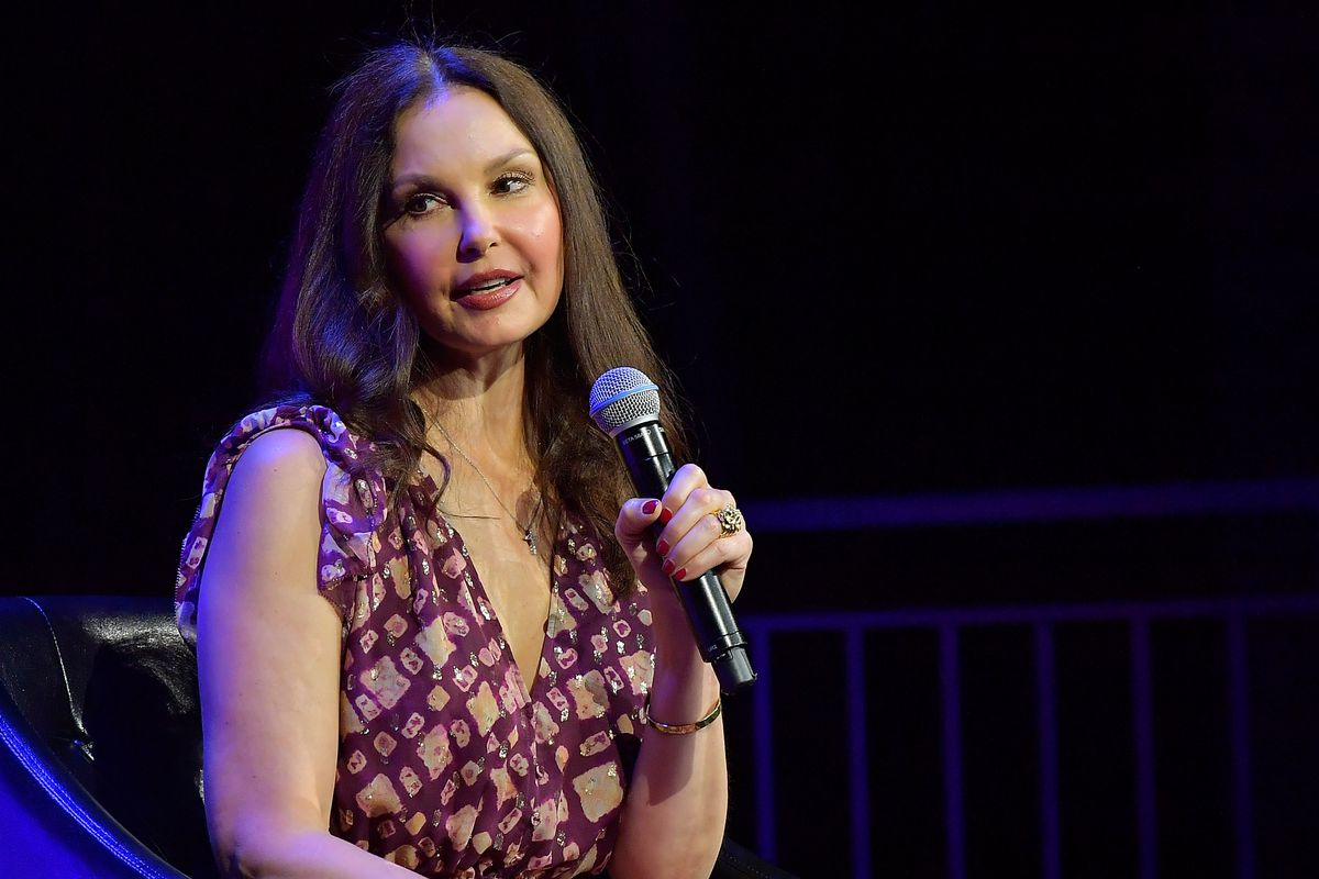 Ashley Judd, who is suing producer Harvey Weinstein for defamation and sexual harassment, pictured in April 2018.