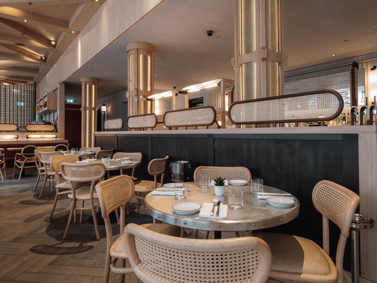 The expansive dining room at Barboun in Shoreditch, a new Eastern Mediterranean grill restaurant and one of the hottest in the city