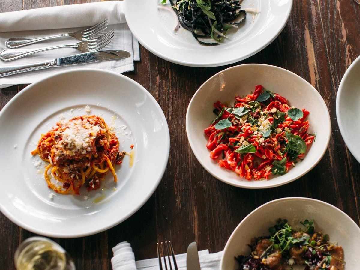 Pastas at Olive & June