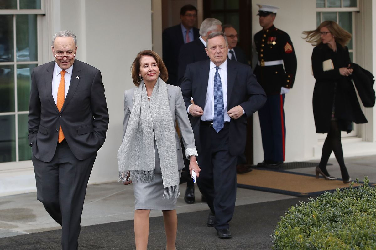 Congressional Democrats Speak To The Press After Meeting With President Trump On Shutdown At The White House