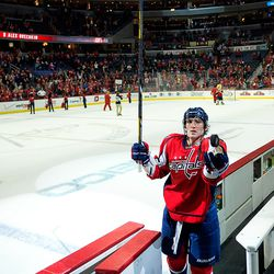 Ovechkin Tosses Puck