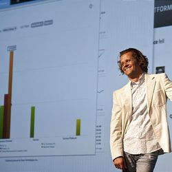 Josh James, founder of Omniture, unveils his newest business information venture, Domo.