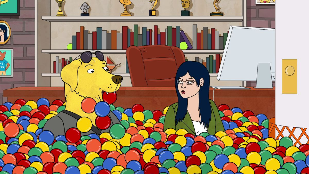 Mr. Peanutbutter and Diane are married on BoJack Horseman.