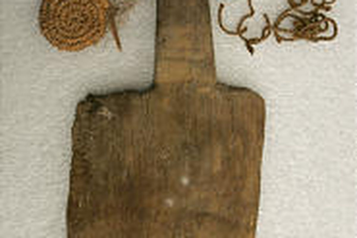 Weaving and a Fremont Indian paddle are some of the artifacts from the Range Creek area that will be displayed at the Utah Museum of Natural History.