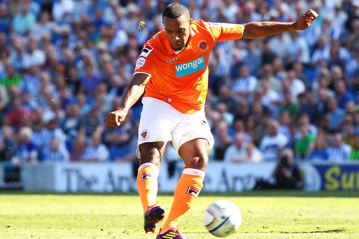 Matt Phillips came off the bench to score Blackpool's winner. (Photo by Brendon Thorne/Getty Images)