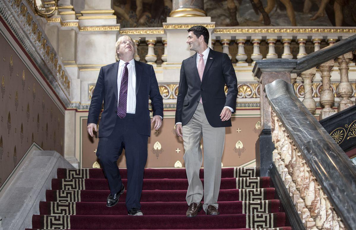 Boris Johnson Hosts United States House of Representatives Paul Ryan In London