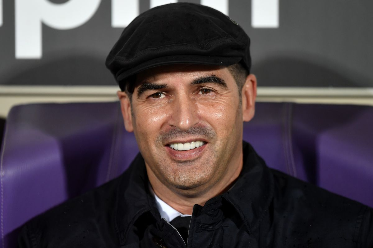 Paulo Fonseca coach of AS Roma smiles the Serie A football...