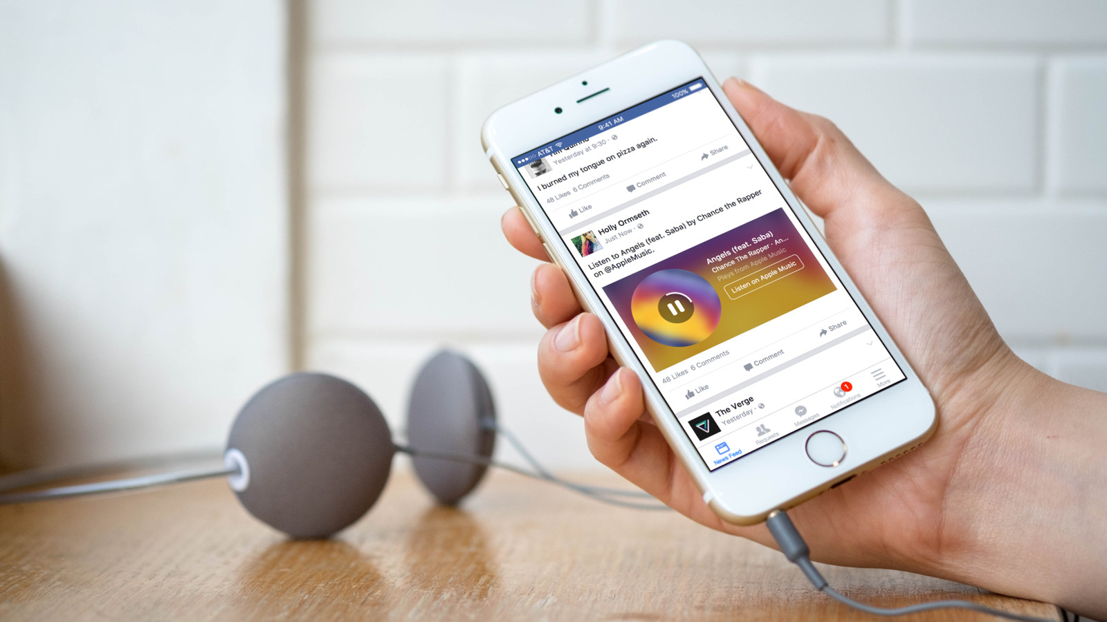 Facebook Adds Song Clips From Spotify And Apple Music To Your News Feed   The Verge