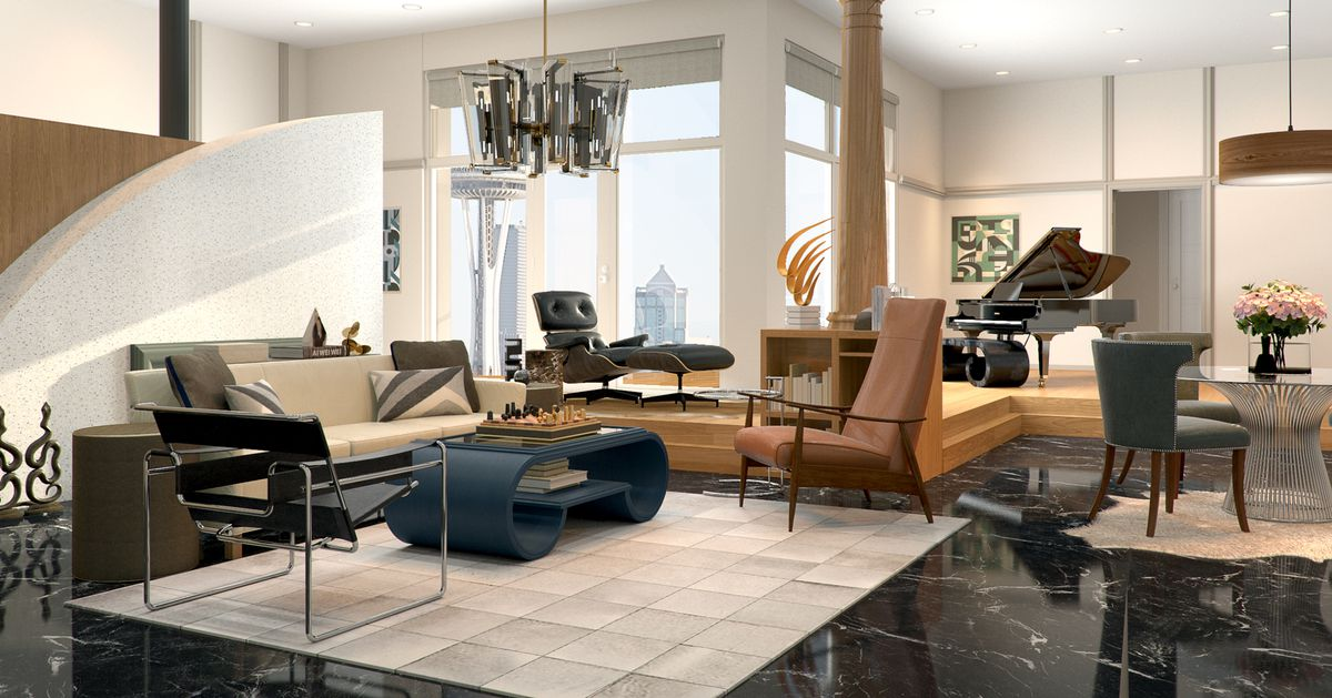 Frasier Crane S Condo Reimagined With A Modern Day Look