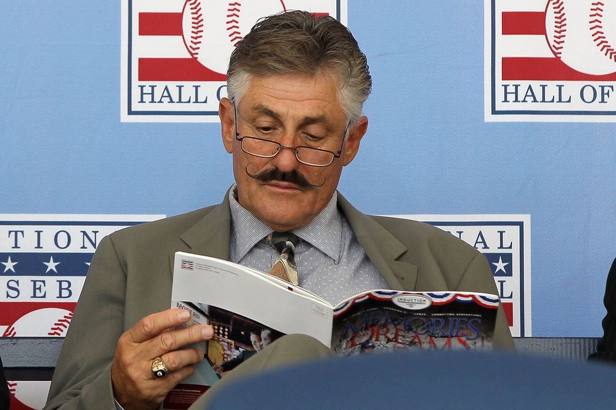 Rollie Fingers can't believe how many people we voted in.