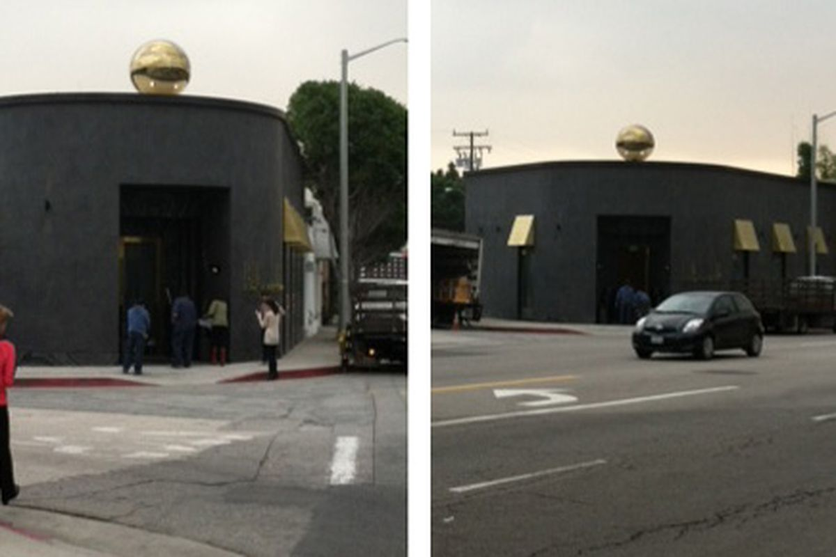 Kelly Wearstler's boutique readying to open on Melrose. Photos via a Racked tipster.