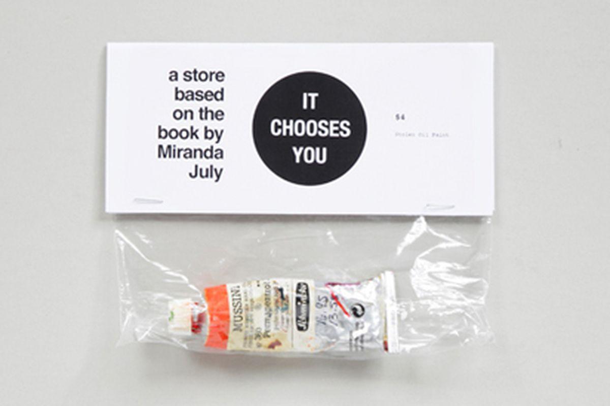 "Image via <a href=""http://store.partnersandspade.com/miranda-july-it-chooses-you/"">Partners &amp; Spade</a>"
