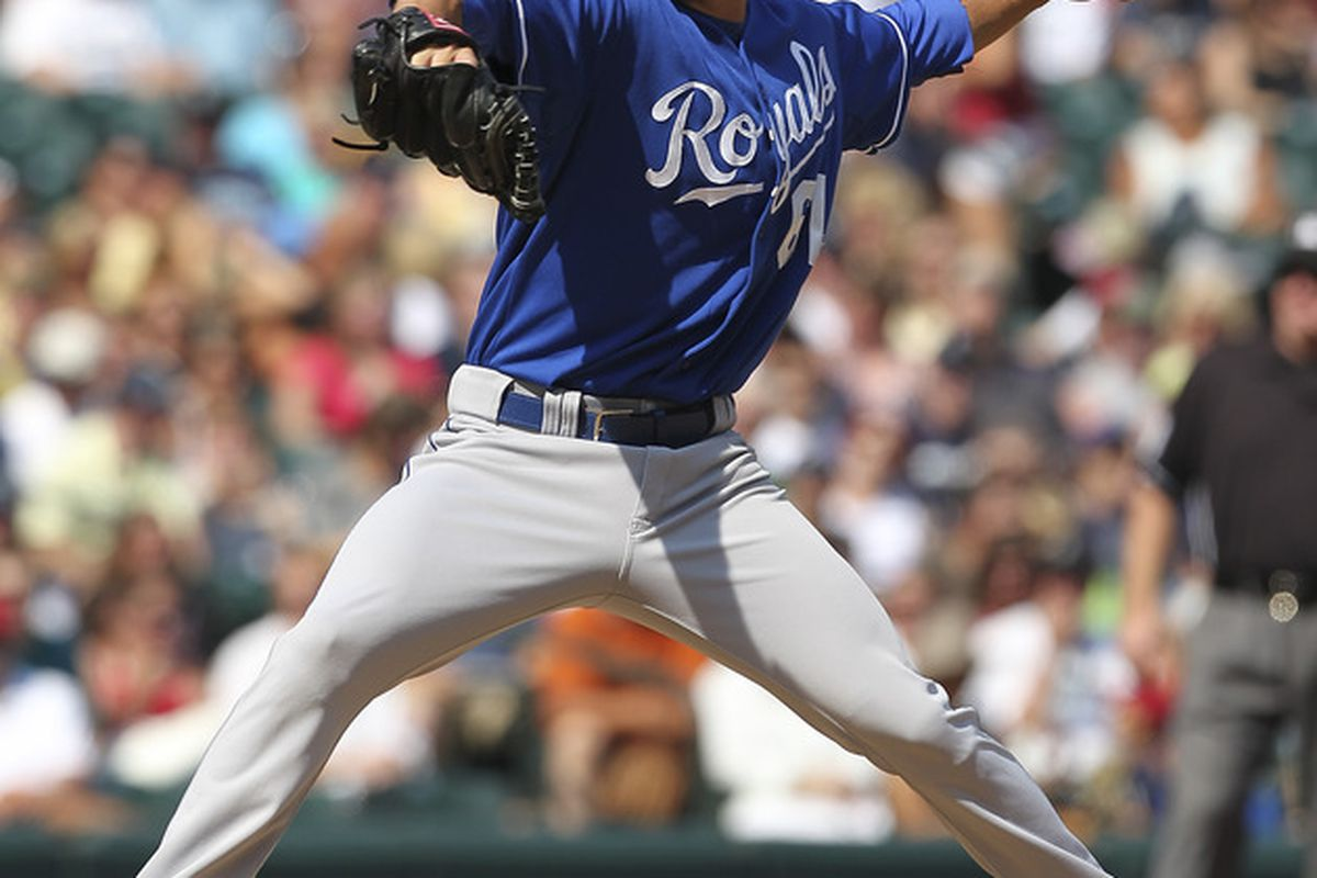 SEATTLE - SEPTEMBER 11:  Starting pitcher Everett Teaford #61 of the Kansas City Royals pitches against the Seattle Mariners at Safeco Field on September 11, 2011 in Seattle, Washington. (Photo by Otto Greule Jr/Getty Images)