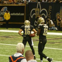 Lance Moore celebrates a first down catch.