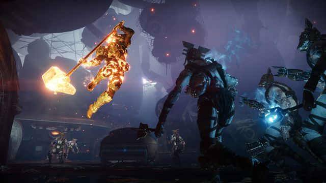 Destiny 2: Forsaken - Titan unleashing a super attack on enemies