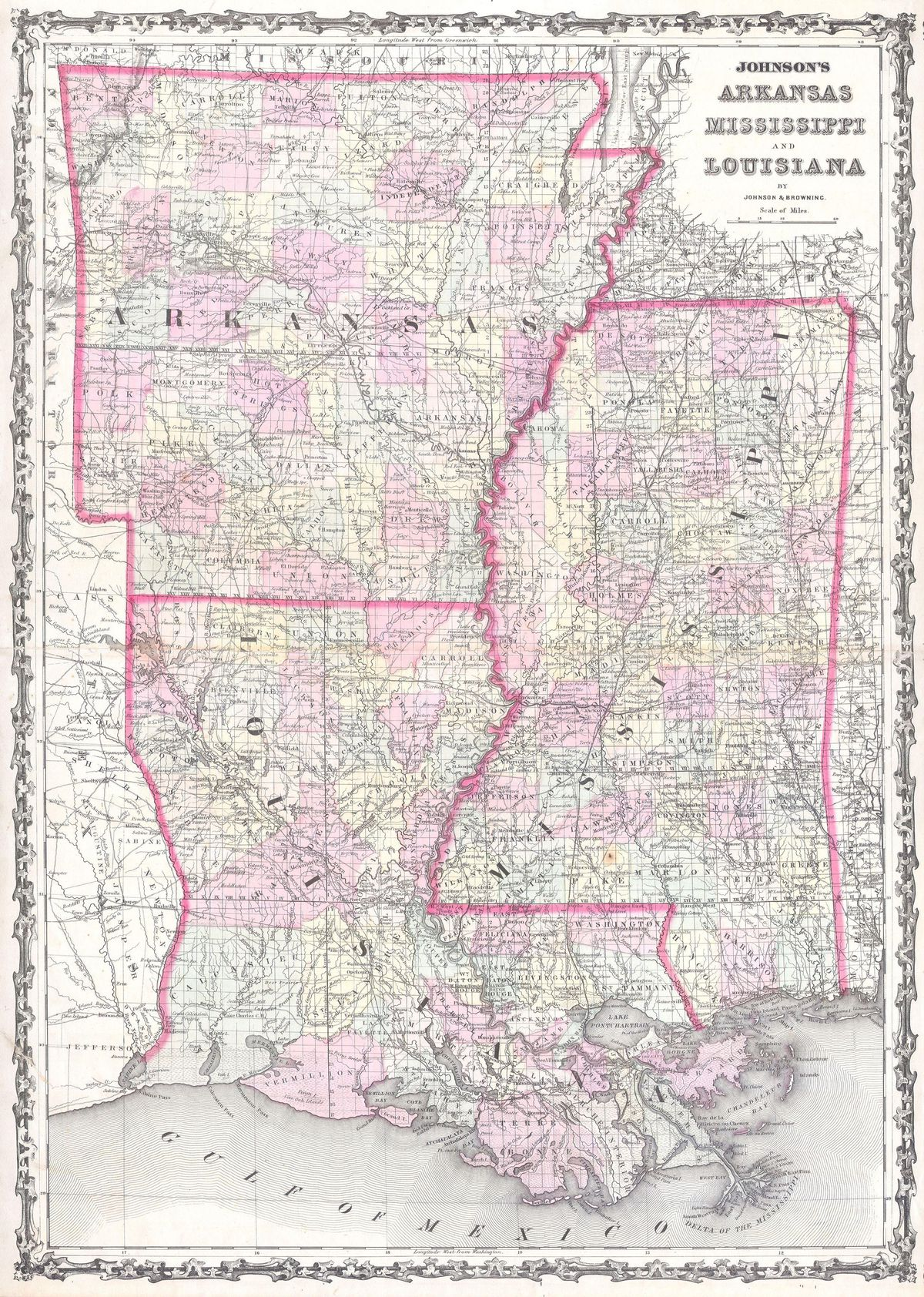 Johnson Map of Mississippi