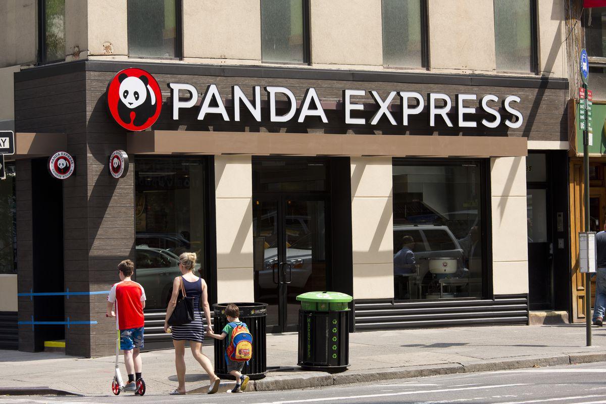 The exterior of a Panda Express in Manhattan.