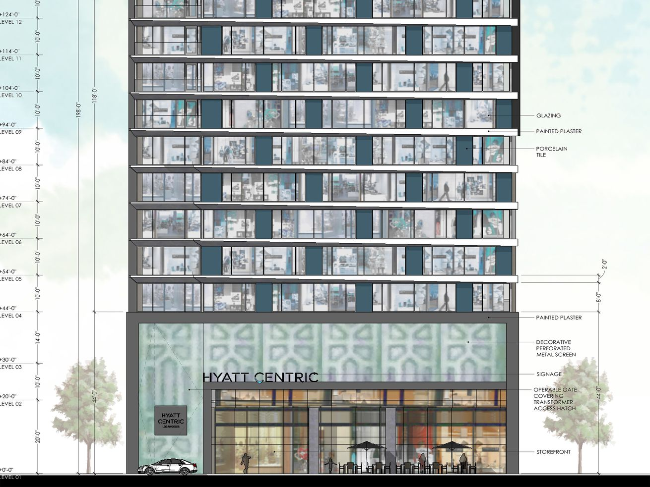 The hotel planned for 1138 South Broadway.