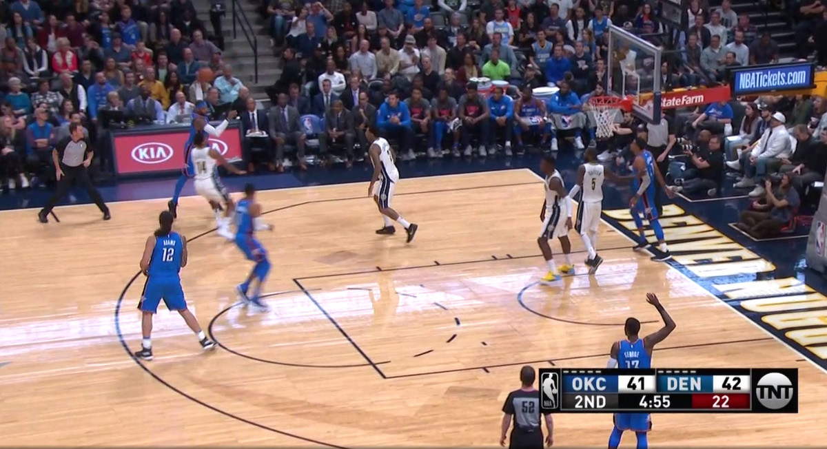 Carmelo Anthony shooting the ball