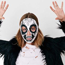 """Skeleton mask, <a href=""""http://www.urbanoutfitters.com/urban/catalog/productdetail.jsp?id=29544202&parentid=A_HALLOWEEN#/"""">$10</a>"""