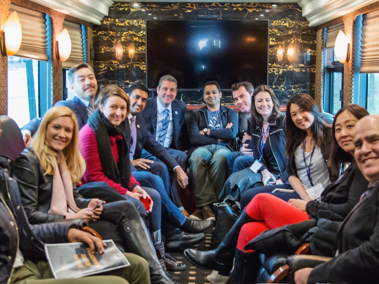 On the bus with Silicon Valley VCs and D.C. congressmen for the Comeback Cities Tour.