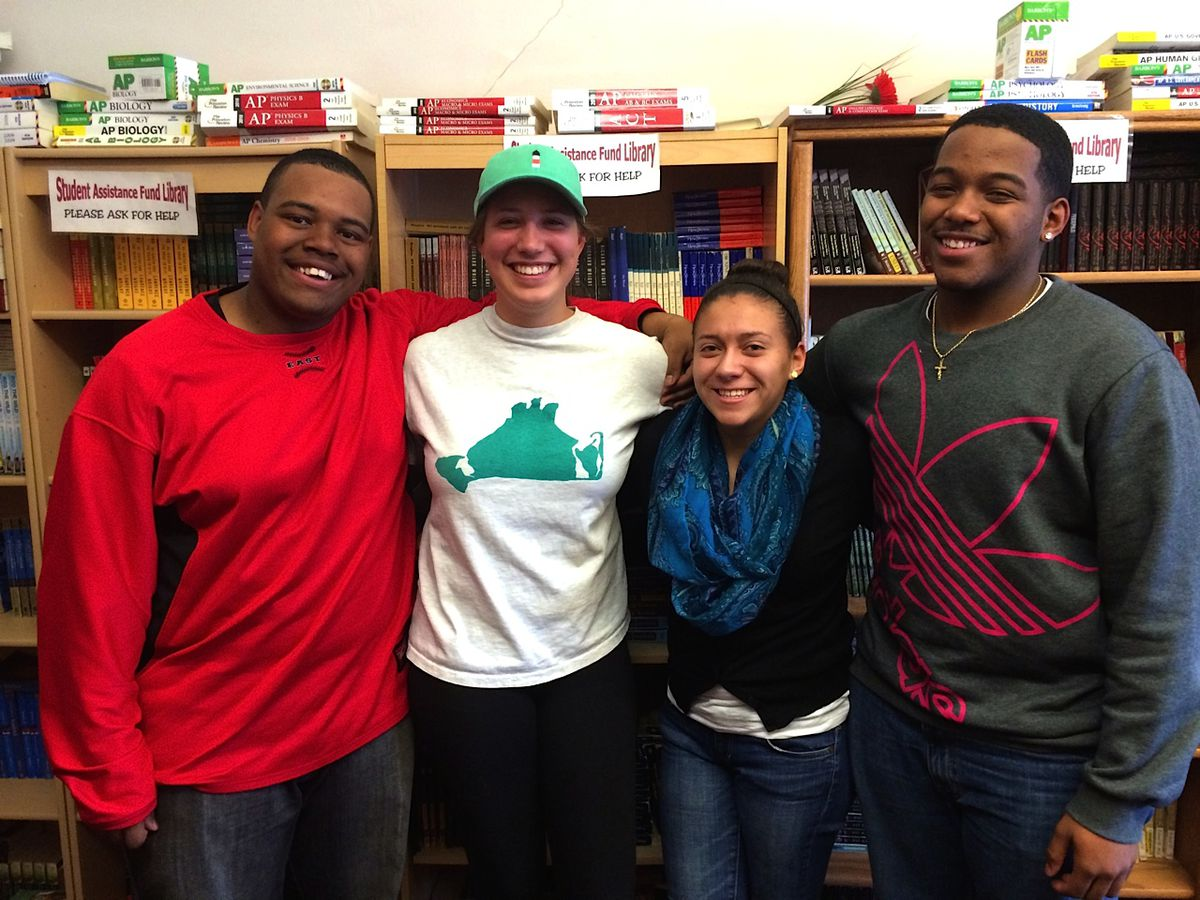 Angels for AP Excellence members (L to R) Ray Pryor, Sarah DeMoully, Karina Orellana, and Luis Cotto