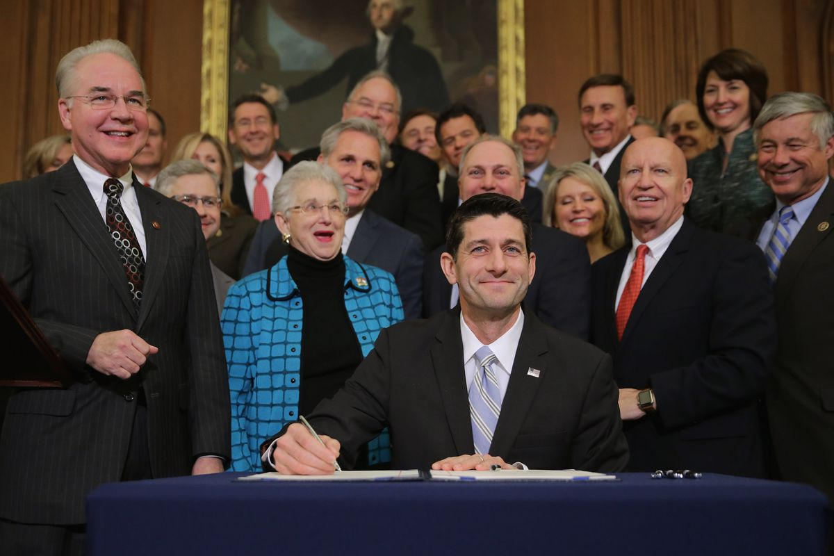 Paul Ryan Holds 'Enrollment Ceremony' For Bill To Repeal Affordable Care Act