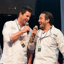 Ryan Scott and Fabio Vivani had major chemistry on stage on Saturday during the demos in the St. Francis