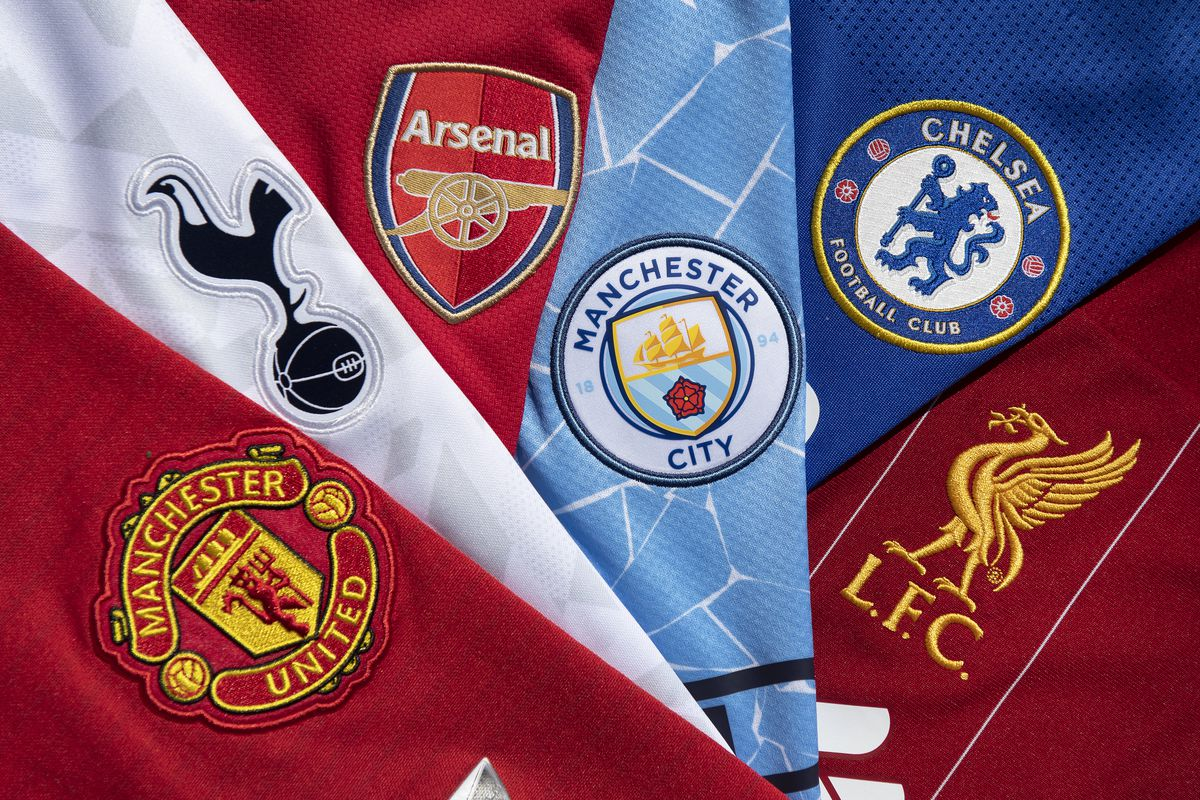 The Club Badges of the So-Called Top Six in English Football