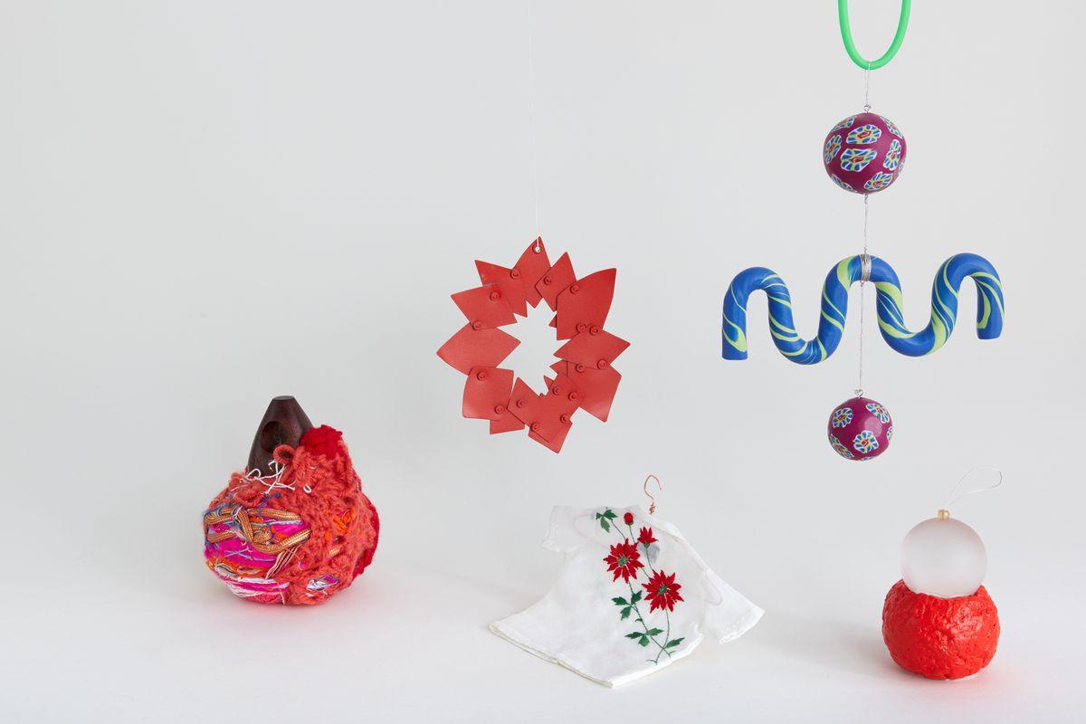 Colorful ornaments.