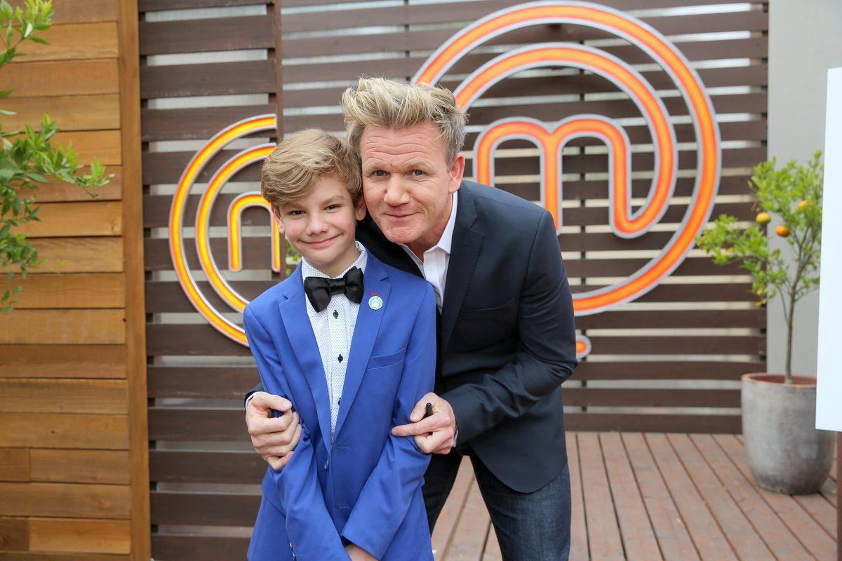Logan with Gordon Ramsay