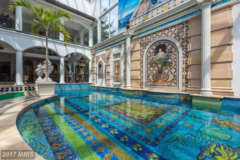 This Potomac Mcmansion S Pool Is Intense Vibrant And Oh