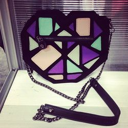 """Geometric baggage done right by <a href=""""http://www.love-made.com/""""target=""""_blank"""">Love+Made</a>."""