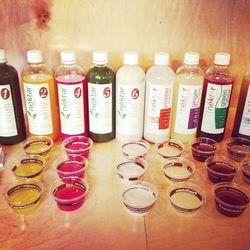 Nekter Juice Bar's colorful setup.
