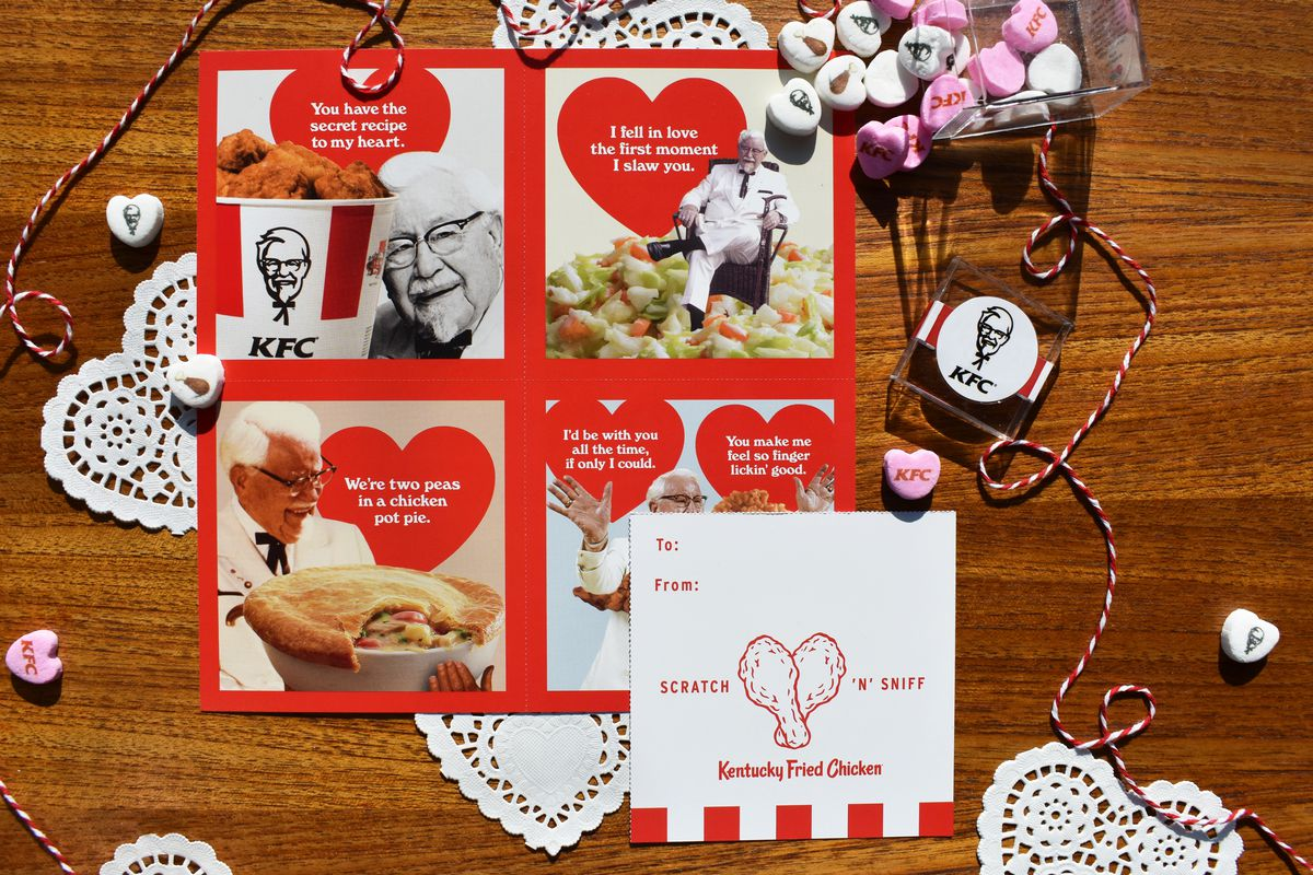 e74fecf0915 KFC s Scratch-and-Sniff Valentine s Day Cards Don t Smell Like Chicken at  All