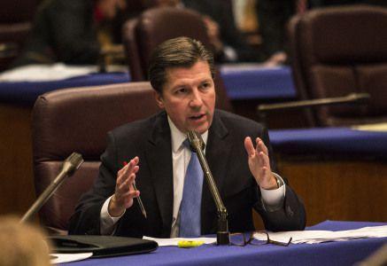 James J. Banks at City Hall last year. | Sun-Times files